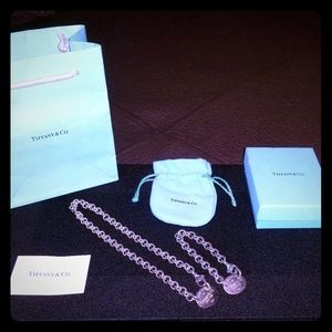 Matching Tiffany and co silver choker & bracelet